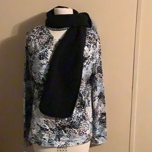 Blouse and scarf